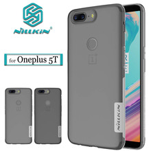 Nilkin Oneplus 5T Case Nillkin Ultra Thin Transparent Clear Soft Silicone TPU Phone Protective Cover for Oneplus 5T One Plus 5T