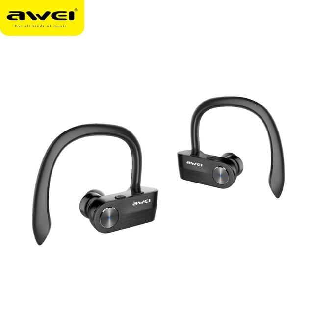 AWEI T2 auricular Bluetooth inalámbrico estéreo TWS Auriculares estéreo inalámbricos écouteur para teléfono Auriculares con micrófono Bluetooth V4.2
