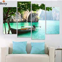 Fashion Large HD Seaview With ShipTop rated Canvas Print Painting for Living Room Wall Art Picture Gift Decoration Home Picture