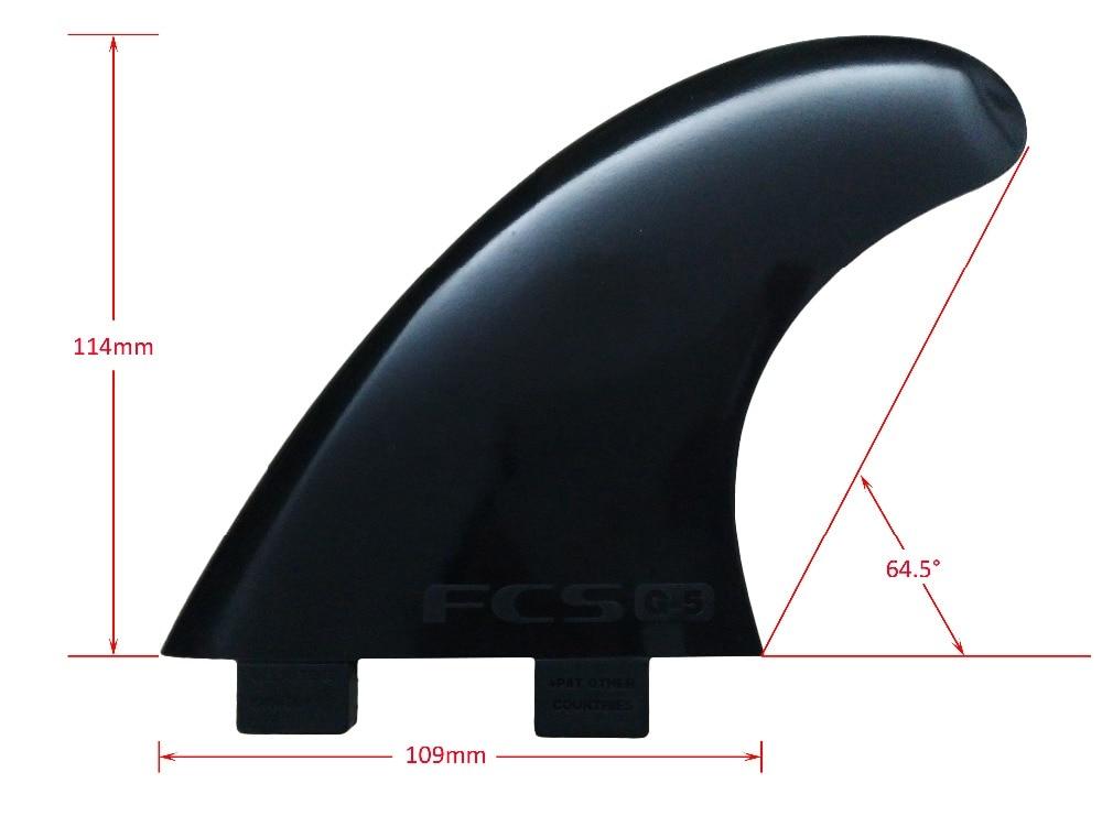 Surfing Płetwy FCS G5 Czarny Pure Color Plastikowa deska surfingowa - Sporty wodne - Zdjęcie 2