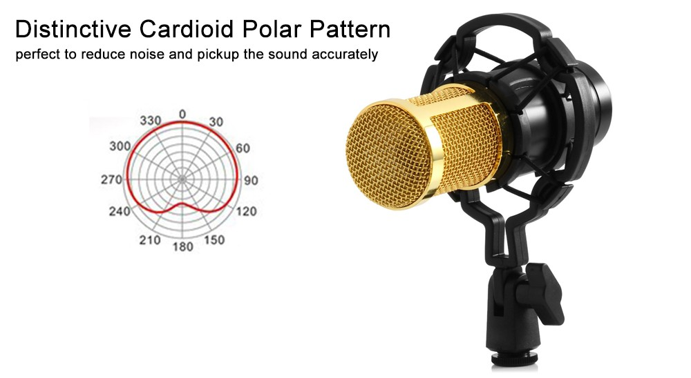 Choque do Microfone Do Estúdio Para Karaoke microfone para pc BM 800 Mic