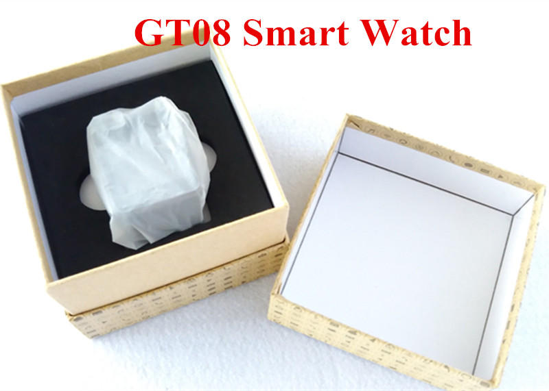 Smart Watch GT08 Clock Sync Notifier With Sim Card Bluetooth Connectivity For apple Android font b