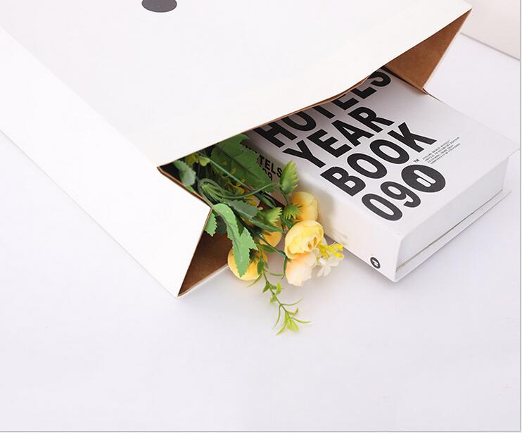 Double Layers Kraft Paper Storage Bag Plants Flowers Bags Kis Toys Books Sundries Organize Luandry Basket ins Style