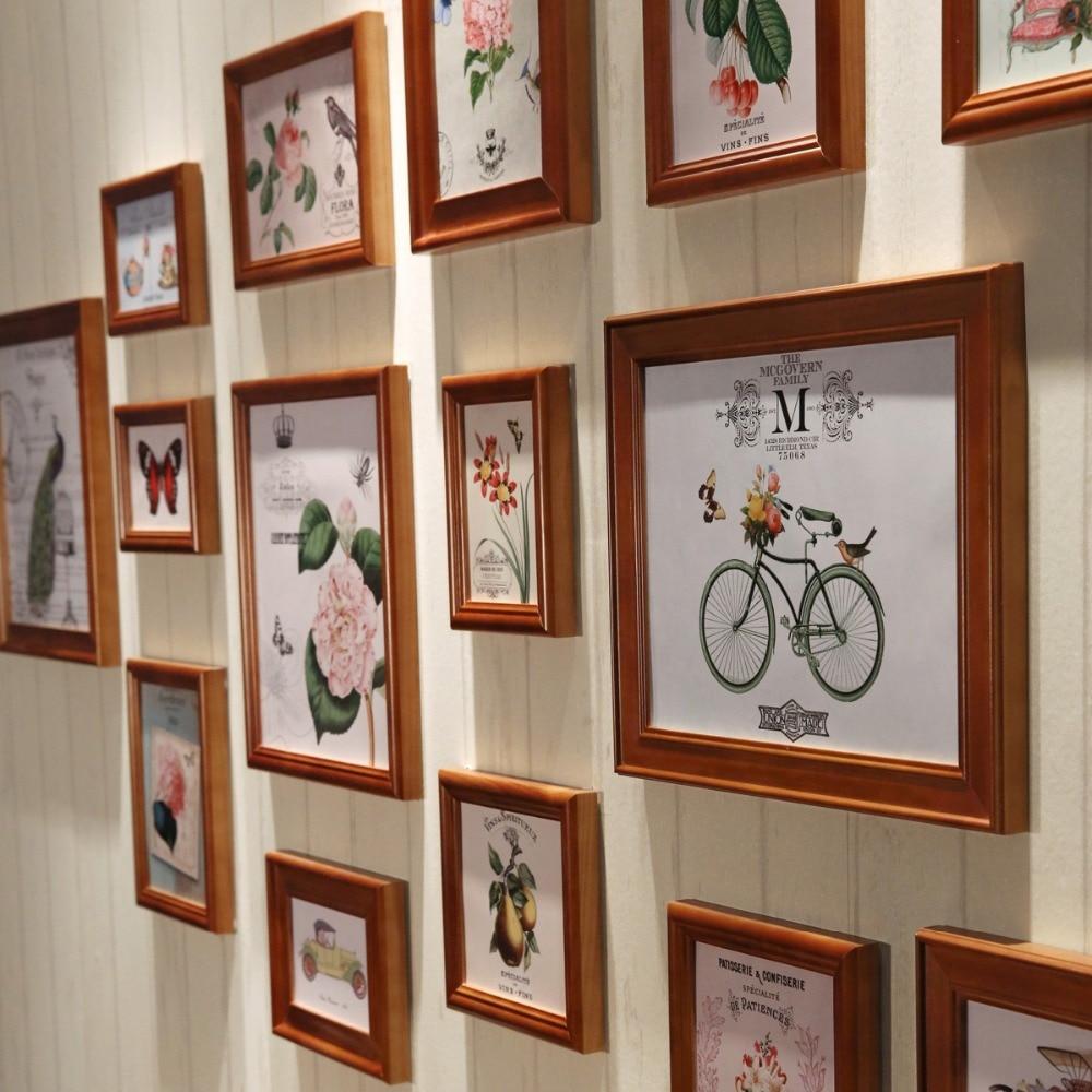 16 unids/set madera Marcos familia, vintage Marcos s Sets, collage ...