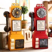 Креативная модель телефонов из смолы, Копилка в стиле ретро, копилка для украшения дома