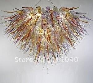 Contemporânea lustres de Cristal de Vidro de Luxo CONDUZIU a Iluminação luminária Lustre de Vidro Da Arte