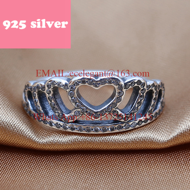PJR048 FreeShipping 925 silver ring . Crown ring with stone luxury jewerly. Fashion New Design rings for woman