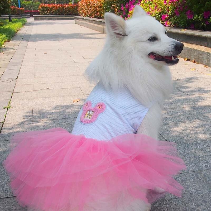 Lujo de gran perro vestido tutú falda perro mascota gato princesa ...