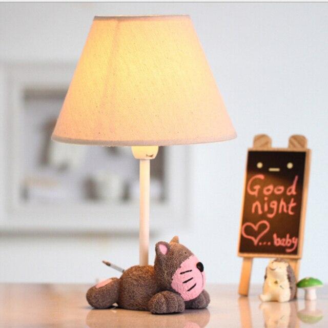 Nordic Моды Дети Светодиодные Настольные Лампы Подарки Ко Дню Рождения E14 110 В-220 В Переключатель Чтения Кровать Свет Детей номер Светодиодные Настольные Лампы