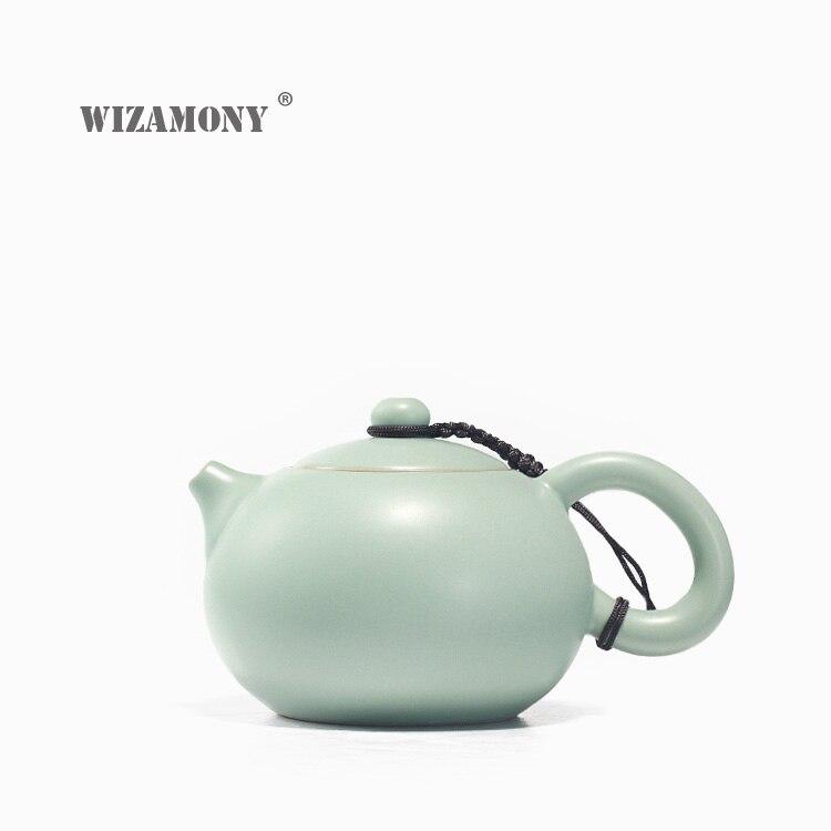 WIZAMONY True Pot Ru pece Celadon Zisha keramika umění Tay Thi čajový set Čína čajová konvice porcelán yixing antuka antique čajník
