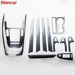 Bbincar Interieur Onderdelen Plastic Koolstofvezel Verf Voor Gear Shif Panel Frame Venster Schakelaar Handvat Trim Voor Audi A4L 2009-2016