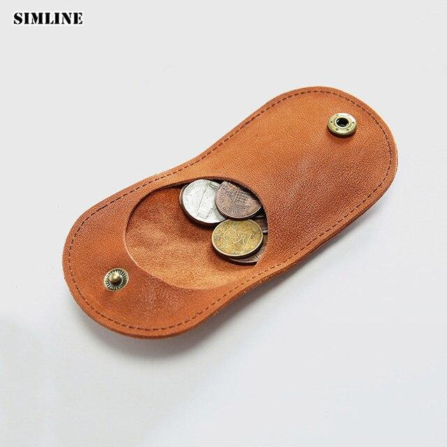 bc310308b844 SIMLINE женский кошелек из натуральной кожи Мужской винтажный ручной работы  ...