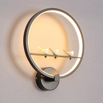 Modern Led Wall Lamps 18w Light Round Circle Art Angel Bird Lover decoration Lighting Fixture for living room bedroom