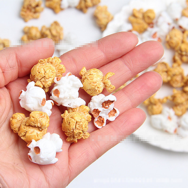 6Pcs/Lot Slime Charms Popcorn Grain Slime Accessories Beads Making Supplies With Drawstring Pouch For DIY Crafts Scrapbooki