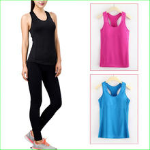 WST02 Women'S Running Shirts Elastic Breathable Gym Fitness Ladies Comfortable Vest Yoga Shirts