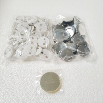 Darmowa wysyłka rabat puste 37mm 100 zestawy profesjonalny odznaka przycisk ekspres do Pin z powrotem Pinback przycisk materiały materiały tanie i dobre opinie 100-499 Sztuk