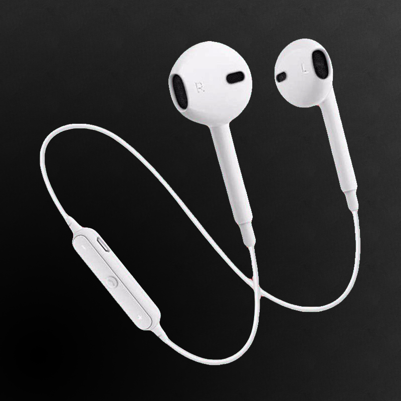Sport Running S6 In Ear Earphones Stereo Wireless Bluetooth V 4.0 Headset Bass Bluetooth Earphone With Mic For Samsung S7 S8 magnetic switch earphones sports running wireless earbuds bass bluetooth headsets in ear with mic for running fitness exercise