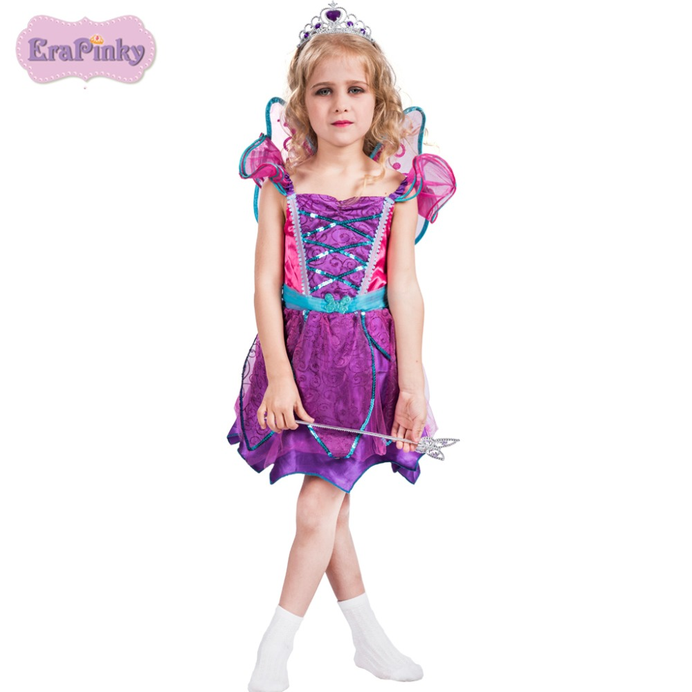 Erapinky children dresses for girls Glamour Fairy princess dress with wing petal sleeve mini short summer dress for kids 2018 светильники trousselier абажур princess fairy 34х22 см