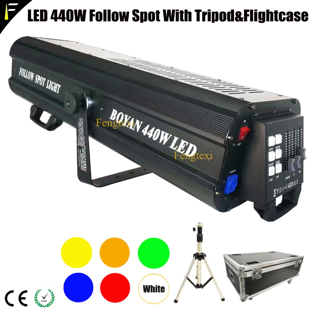 DMX 512 440W Fresnel COB LED Follow Spot Focus Light Ellipsoidals/Lekos Light Fixture Luminator Short To Medium Throw Followspot