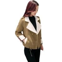 2017 New Spring Autumn Women Short Jackets Wool Coat Female Fashion Korean Slim Was Thin Woolen