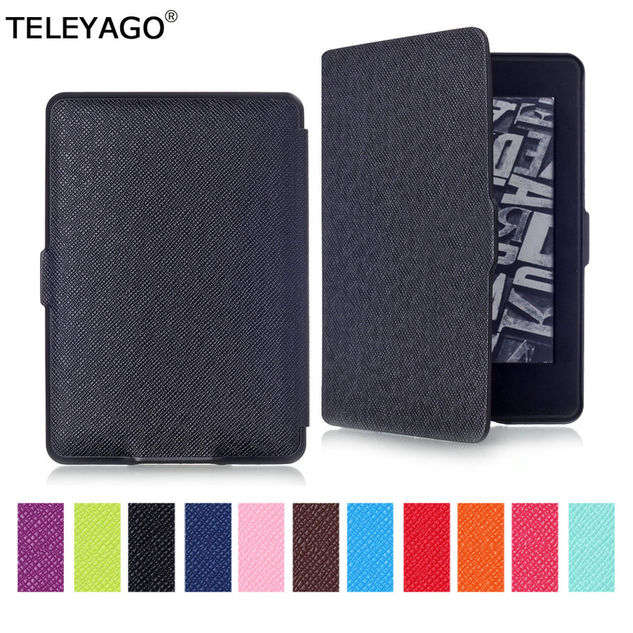 US $8 36 33% OFF|For Amazon Kindle Paperwhite (fit 5th/6th/7th  Generation,Not fit 2018 10th Gen) Leather Case Flip Smart Protection Cover  Shell-in