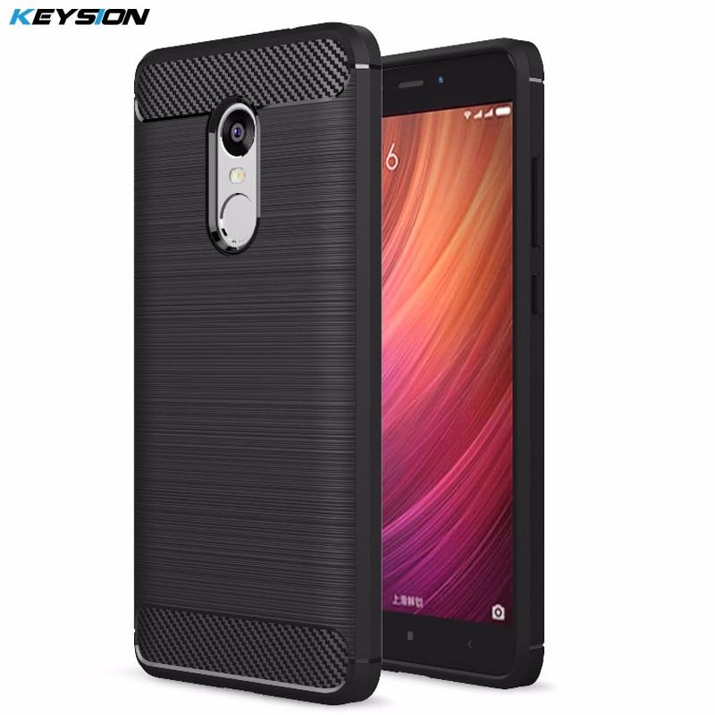 Pouzdro KEYSION pro Xiaomi Redmi Note 5 Pro 4 4X 3 Brushed Armor Shockproof Soft TPU Cover pro Xiaomi Mi 8 6 5 Mix 2 2s Mi A1 A2 6X