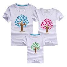 1psc de Bande Dessinée Le Giving Tree Imprimer Femmes Hommes Enfants Garçon fille T-shirt Famille Correspondant Tenues Mère Père Fils Fille 9 couleur