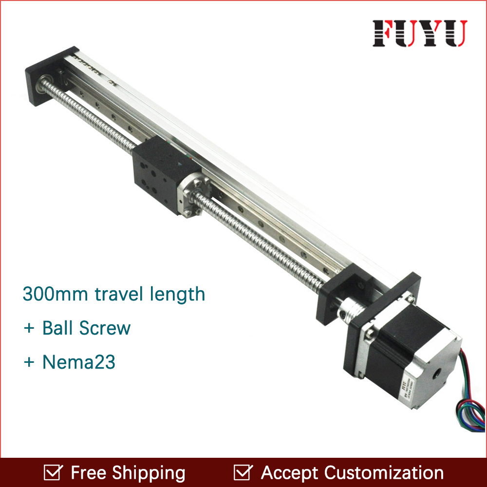 Free shipping 300mm stroke 2017 new china cnc linear guide rail price free shipping fuyu brand 200mm stroke horizontal or vertical usage linear guide price for cnc machine