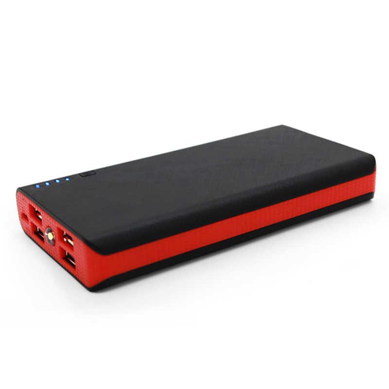 Nowy DIY Power Bank 6*18650 opakowanie na baterie zestaw etui uniwersalna zewnętrzna bateria pomocnicza USB ładowarka Powerbank dla Xiaomi Samsung