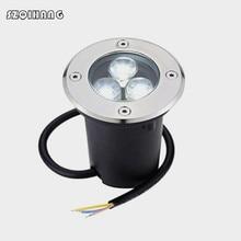 3W 6W 9W IP68 Outdoor Waterproof Round LED Step lights underground light 85-265V Deck Lights Light Warm White