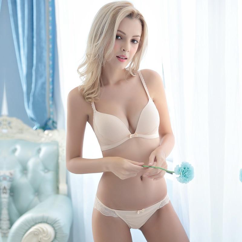 2017 new lace bra & brief sets push up bra set sexy women ...