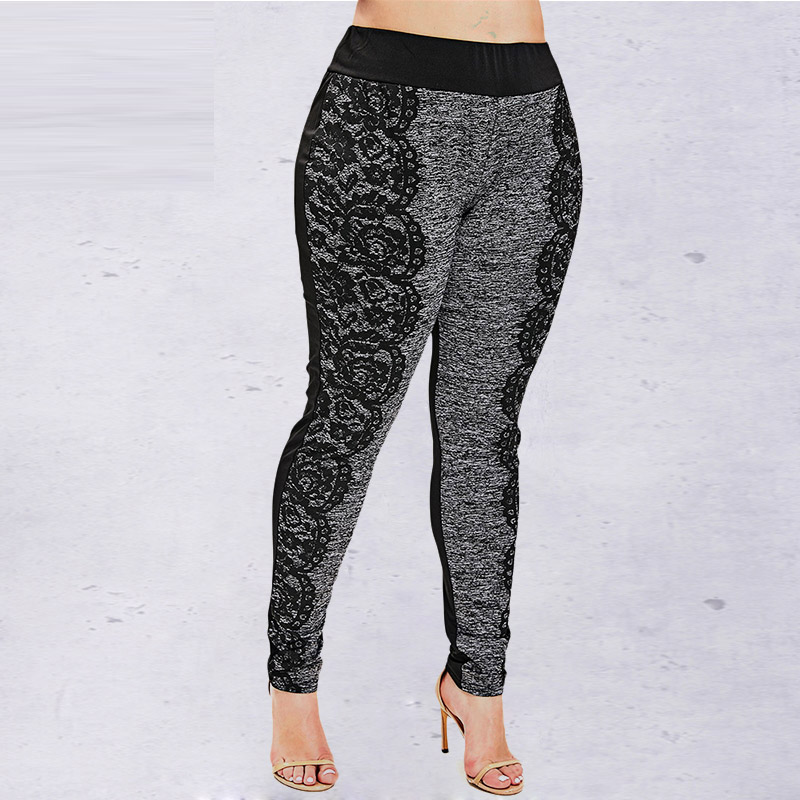 Rosegal Women   Leggings   Casual Space Dye Plus Size Print   Leggings   Pencil Pants Skinny Elastic Mid Waist   Leggings   Ladies Trousers