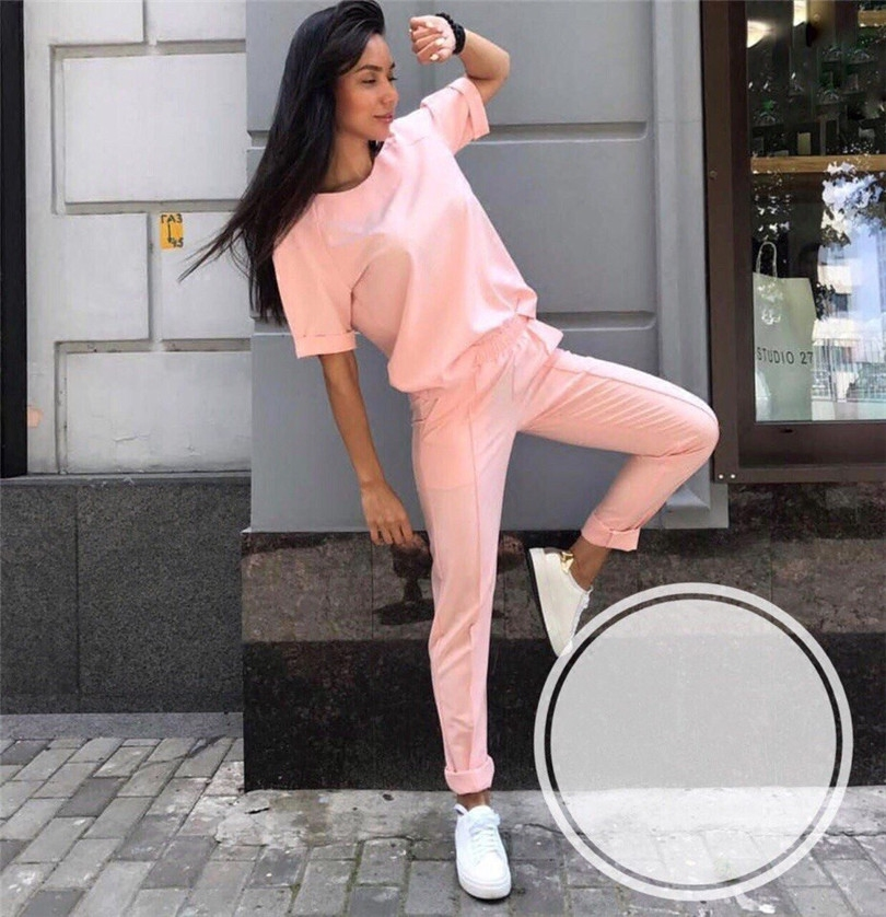 Fashion casual suit 2018 summer wear short sleeved jacket, western style, Nine minutes of pants, two sets of small pants 3