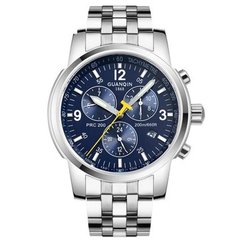 Famous Brand GUANQIN Men Mechanical Watch 100m Waterproof Luxury Fashion Men Watch Wristwatches for Men Relogio Masculino Reloj стоимость