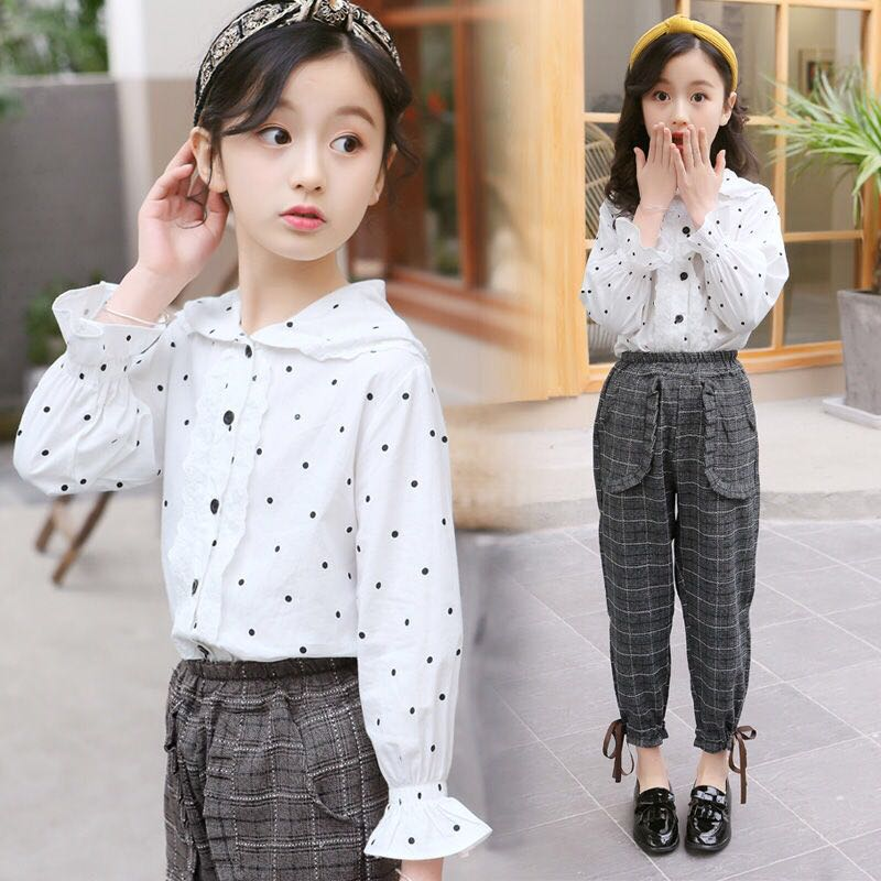 New Summer Girls Boutique Outfits 2019 Cotton Blouses Shirts + Plaid Pant 2pcs Teenage Girls Clothes 8 10 12 14 Years Kids TeensNew Summer Girls Boutique Outfits 2019 Cotton Blouses Shirts + Plaid Pant 2pcs Teenage Girls Clothes 8 10 12 14 Years Kids Teens
