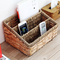 Rattan Basket Desktop Storage Baskets Eco Friendly Magazine TV Remote Control Storage Organizer Home Storage & Organization