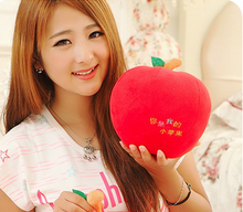 small cute new creative lovely apple toy plush red apple doll gift about 20cm
