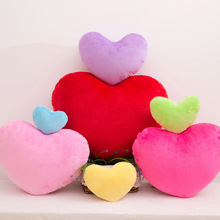 купить Soft Heart Throw Pillow Stuffed Plush Doll Toy Gift Back Cushion Sofa Car Home Decoration Throw Pillow Cushion Kids Children Toy дешево