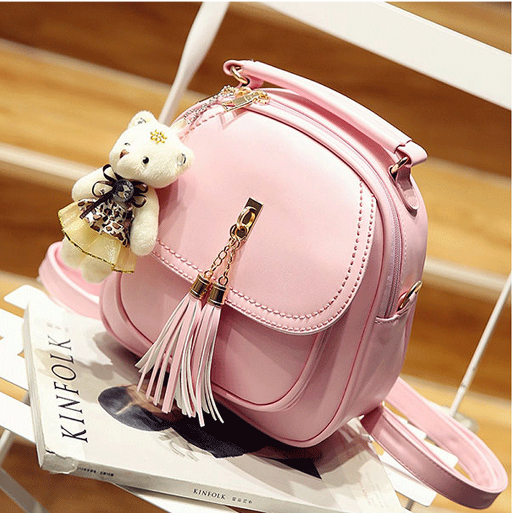 Fashion Joker Fresh Style School Bag Backpack Girl Korean Style PU Fashion Preppy Style Travel Bag Mini Backpack School Bag wholetide 10 marriage gauze bag bag joker bag silver rose