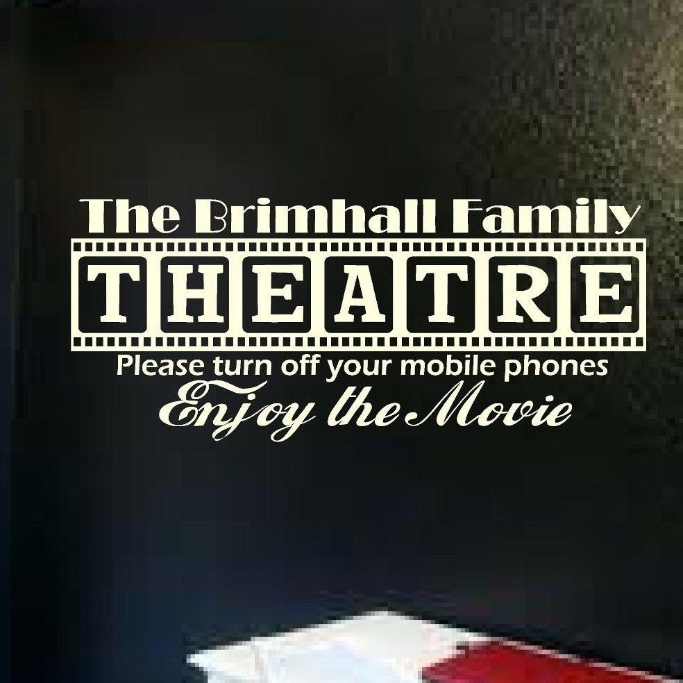 Movie Theater Vinyl Wall Decor