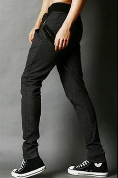 Хит, осенние мужские штаны, модные мужские штаны, повседневные облегающие мужские спортивные штаны, большие размеры - Цвет: dark Gary