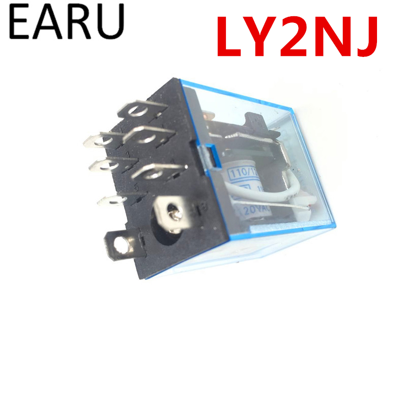 Free Shipping 1Pc LY2NJ HH62P HHC68A-2Z Electronic Micro Mini Electromagnetic Relay 10A 8PIN Coil DPDT DC12V,24V AC110V 220V Hot free shipping my2n j ac 220v coil 5a 240v ac 28v dc 8 pin dpdt electromagnetic relay w socket