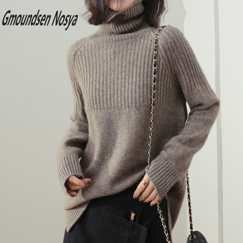 19new sweater women turtleneck Loose sweaters pullover women 