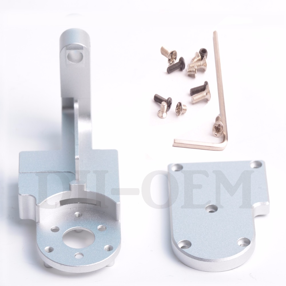 DJI Phantom 3 PRO/ADV Gimbal Yaw Arm +Cover Replacement For PRO/ADV DIY kit HRC55 Aerometal CNC Mill Aluminum Parts