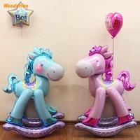 Home Garden Festive Party Supplies Event Ballons 58*127CM Large 3D Horse Trojan Aluminum Foil Children Birthday Balloon