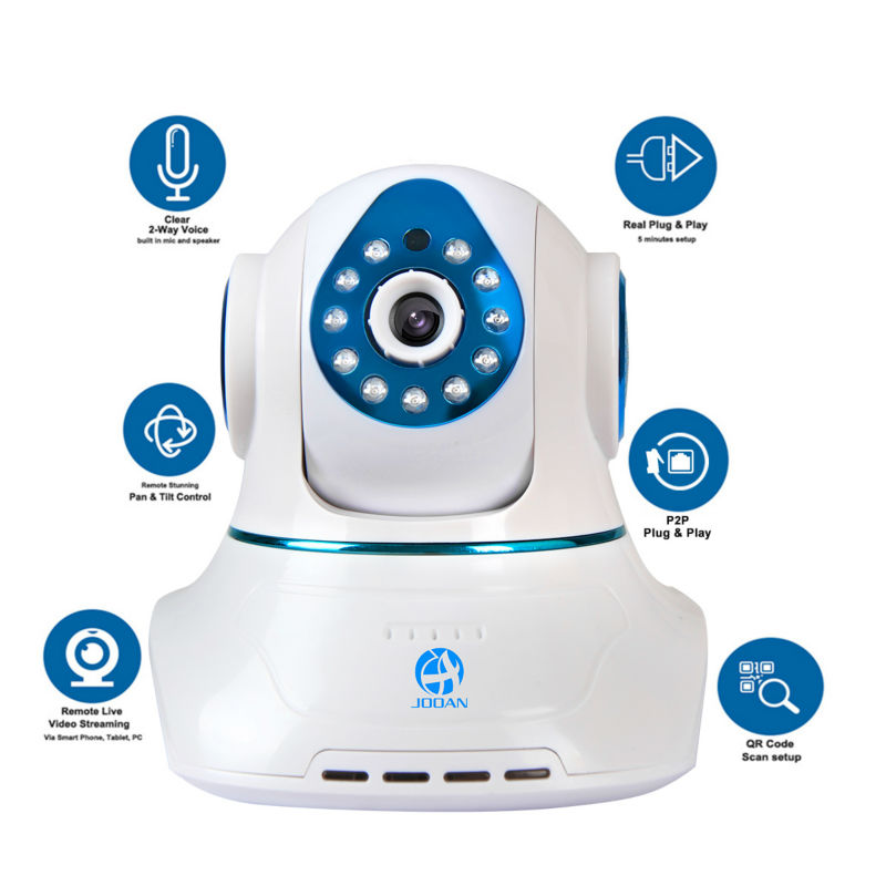 JOOAN 770MRB 720p Network Wireless ip Caemra Security Video Surveillance 1 0mp WIFI Baby Monitor Two