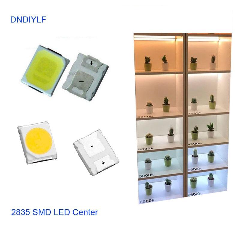 100PCS 2800K 3000K 4000K 5000K 6000K 7000K 11000K 9V 100ma 2835 SMD LEDS 1W 110-120lm For LED Lighting