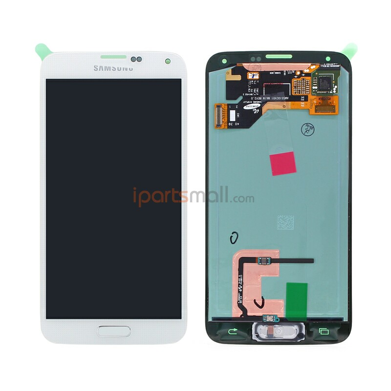 Original LCD Screen Display And Touch Digitizer With Home Buttom Flex Assembly For Samsung S5 i9600 G900F Ship By DHL EMS