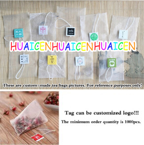 1000pcs lot Nylon Tea Filters Tea Bags Bag Single string with labe Empty Teabags 5 6