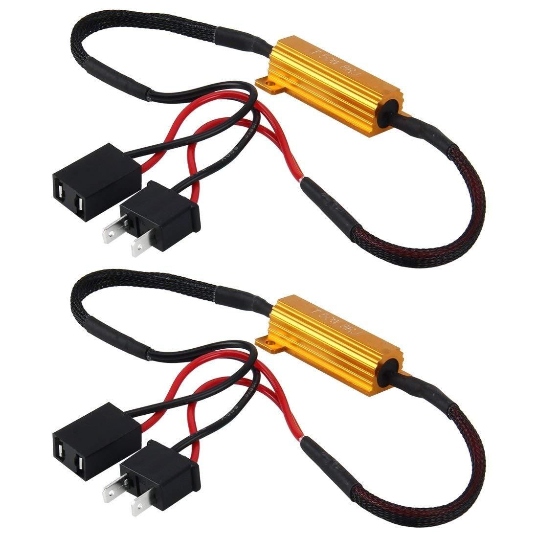 Автомобильный нагрузочный резистор 50 Вт H1 H3 H7 H11 9006 hb3 hb4 h9 h8 h10, подавление ошибок, светодиодный декодер Canbus, Бесплатная проводка, подсветка